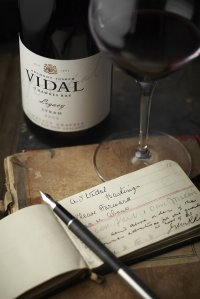 Vidal wines, bottle and design details